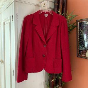 Like New! J Jill boiled wool red blazer/jacket